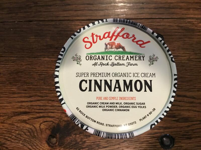 Ice Cream - Cinnamon - pint (Strafford Organic Creamery)