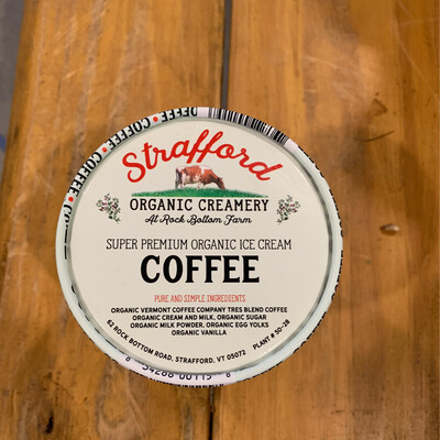 Ice Cream - Coffee - pint (Strafford Organic Creamery)