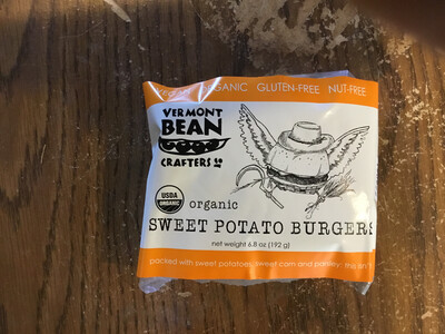 VT Bean Crafters Sweet Potato Burgers - 2 pack