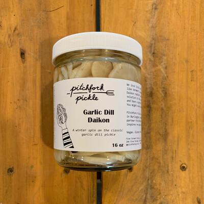 Garlic Dill Daikon (Pitchfork Pickle)