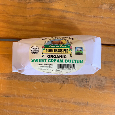 100% Grass Fed Butter - 1/2 Lb Salted (Larson Farm & Creamery)