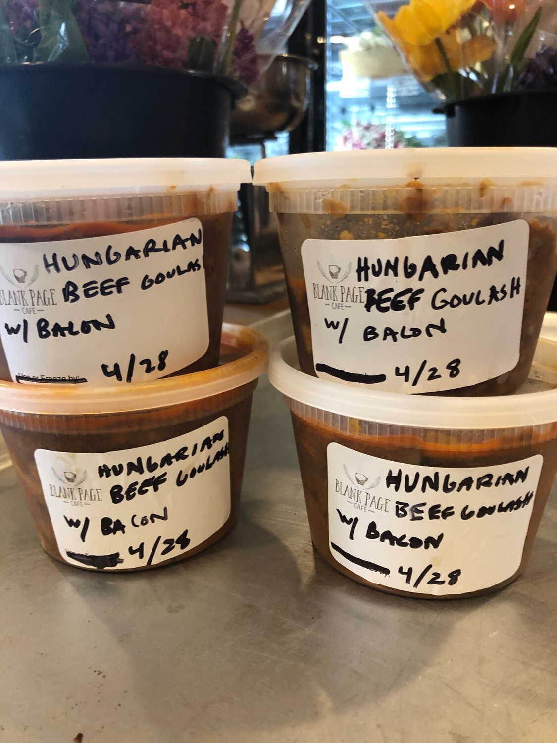 **NEW** Frozen Meals-To-Go - Hungarian Paprika Spiced Goulash With Bacon) (1 Pint or 16oz)