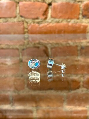 Turquoise Silver Elecroplated Studs