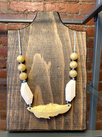 Dove Feather Teething Necklace
