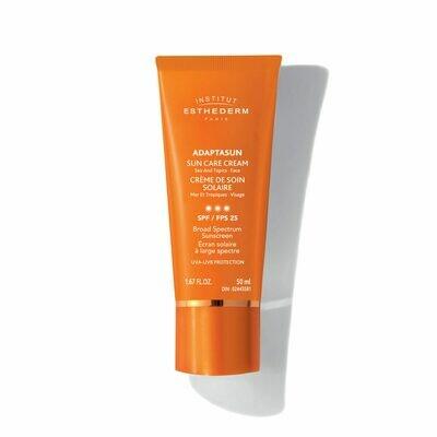 Adaptasun crème de soin solaire mer et tropique visage – fps 25 50ml