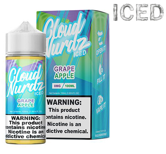Cloud Nurdz - Grape Apple Iced - 100ML - 6 MG