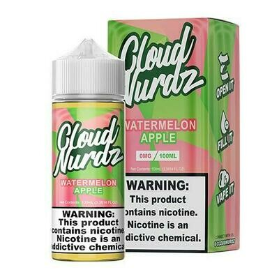 Cloud Nurdz - Watermelon Apple - 100ML - 0 MG