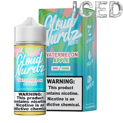 Cloud Nurdz - Watermelon Apple Iced - 100ML - 0 MG