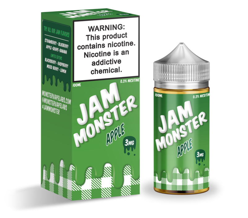 Jam Monster - Apple - 100ML - 3 MG