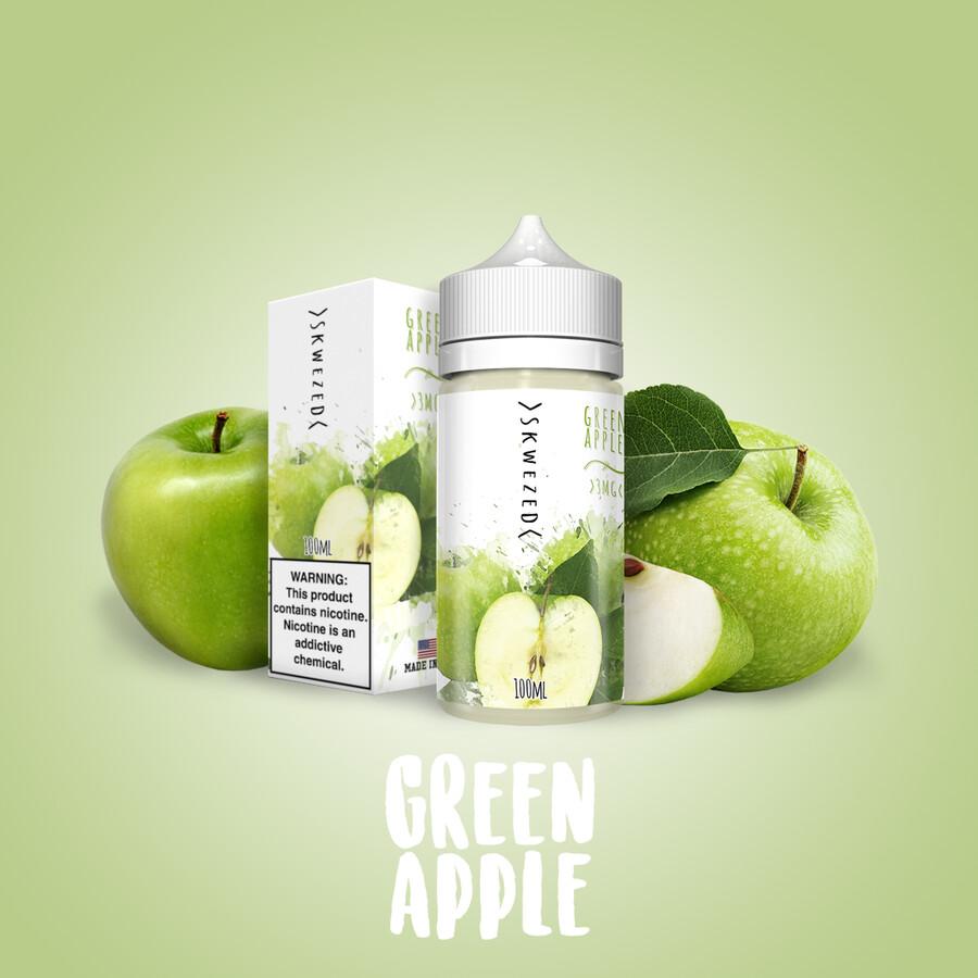SKWEZED GREEN APPLE 3MG 100ML