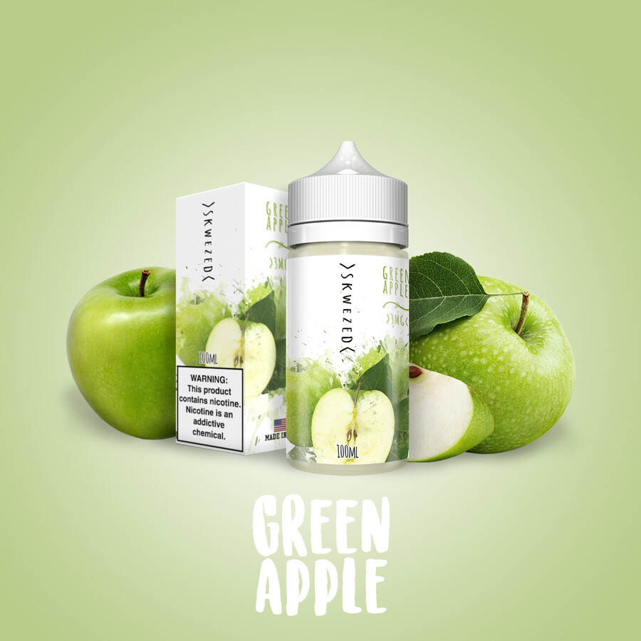 SKWEZED GREEN APPLE 6MG 100ML