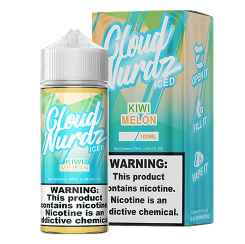 Cloud Nurdz - Kiwi Melon Iced - 100ML - 3 MG