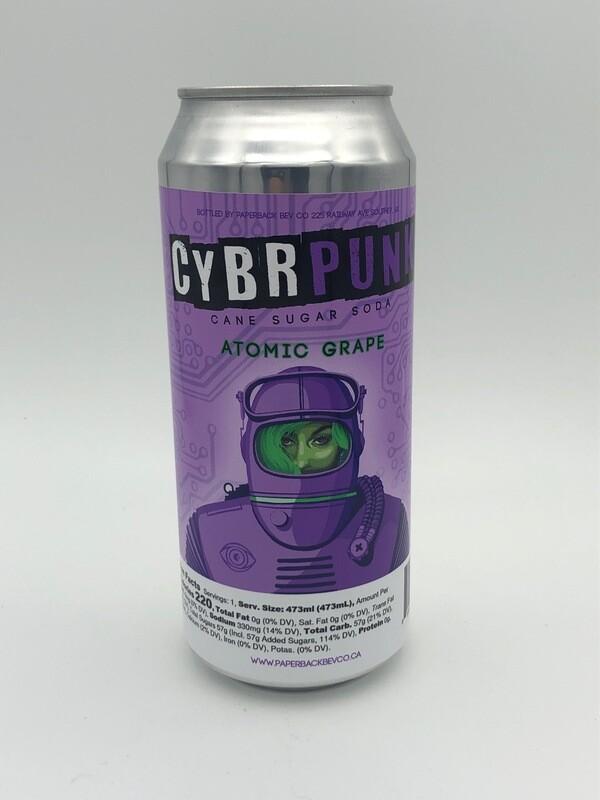 CYBRPUNK Atomic Grape Cane Sugar Soda