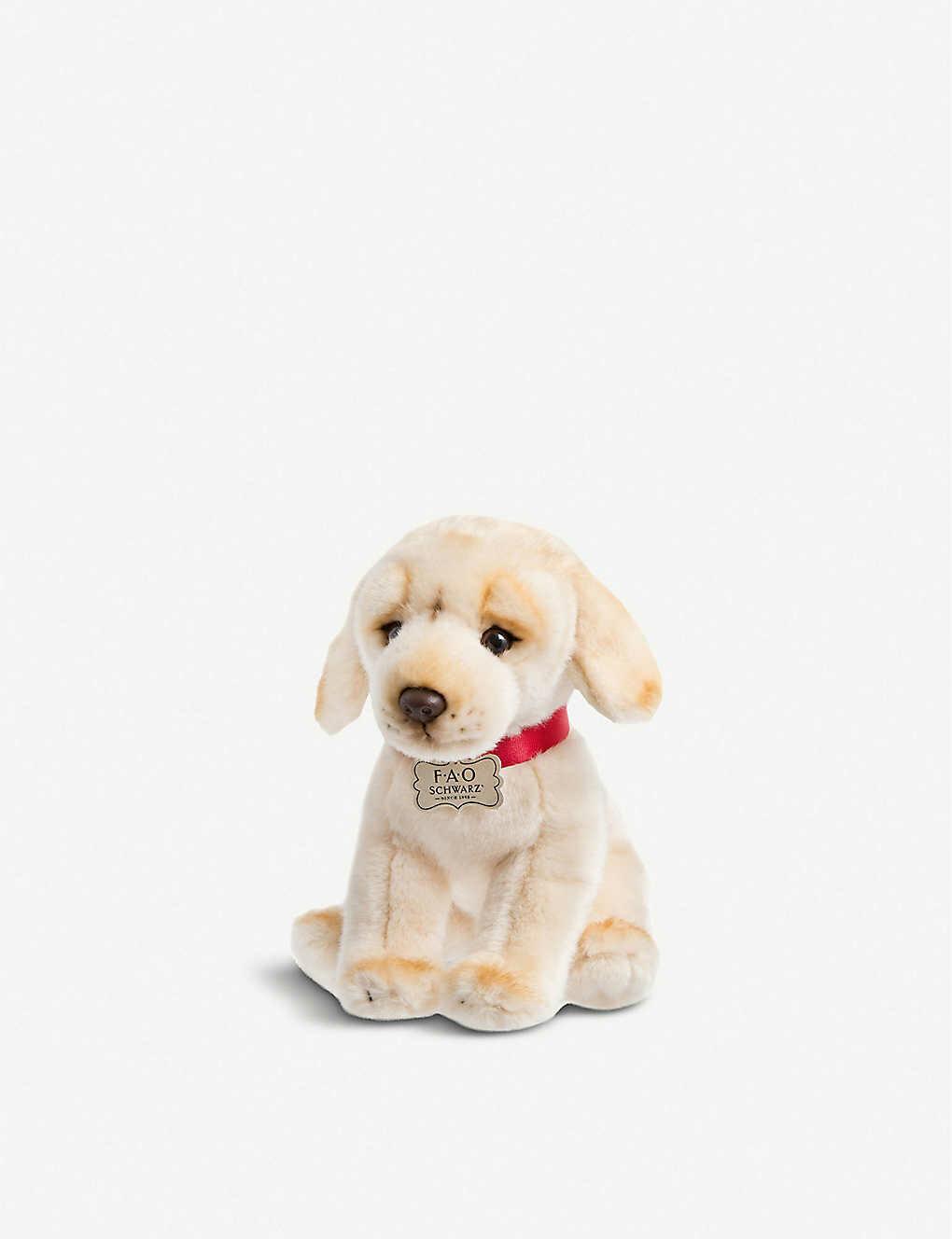 FAO Plush Puppy Yellow Labrador