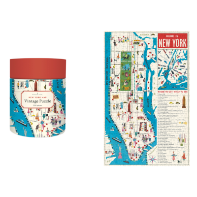 Cavallini & Co. New York City Puzzle Map