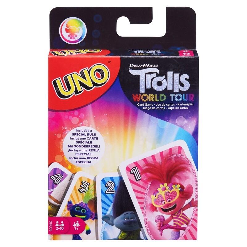 Uno Trolls World Tour Card Game