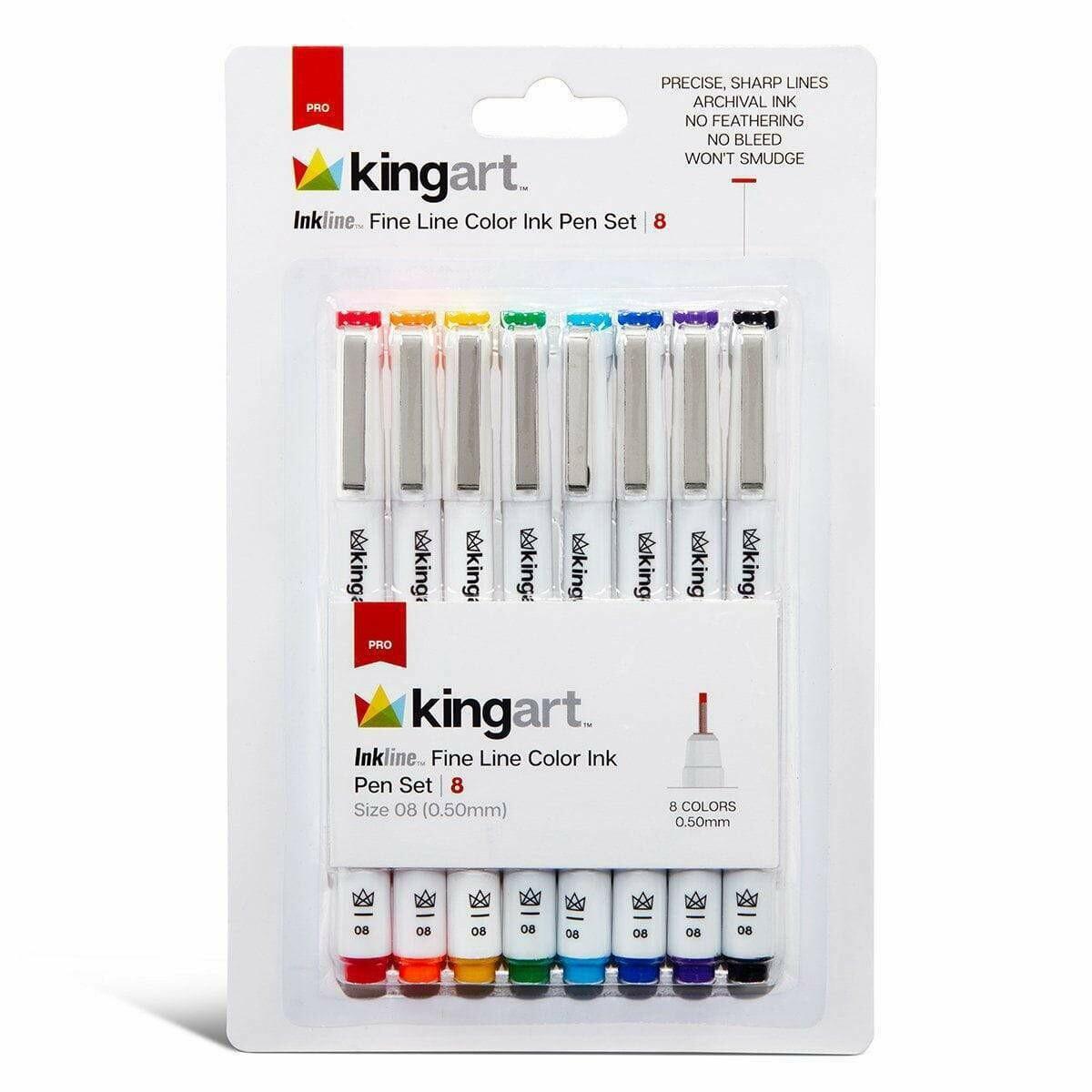 KingArt 8 Fine Markers