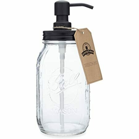 Liquid Fir Hand Soap from Wakefield, Rhode Island/Glass Mason Dispenser