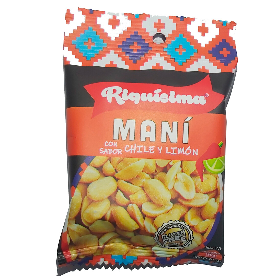 Mini Maní Chile Limón 20g