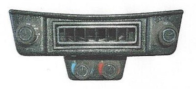 Under Dash Control & Louver Panel