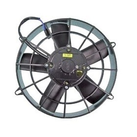 """11"""" 12 Volt High Profile Straight Blade Pusher Fan Assembly"""