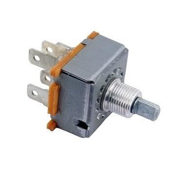 3 Speed 12 Volt Short Shaft Rotary Fan Switch