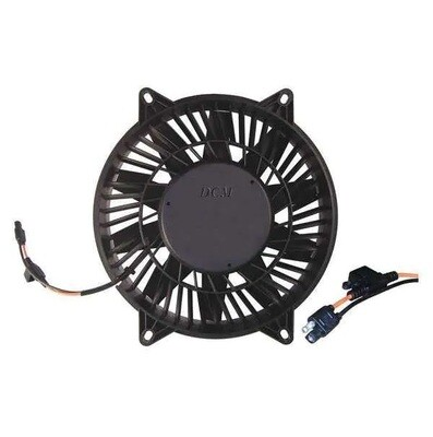 """11"""" 12 Volt Vector High Profile Straight Blade Pusher Fused Fan Assembly"""