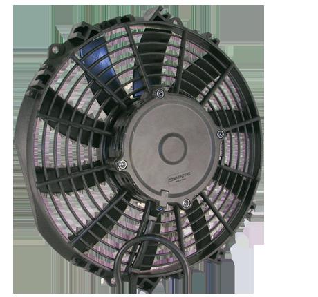 """10"""" 130 Watt Low Profile Curved Blade Reversible Fan Assembly"""