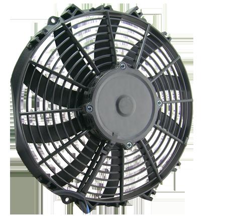 """11"""" 130 Watt Low Profile Curved Blade Reversible Fan Assembly"""