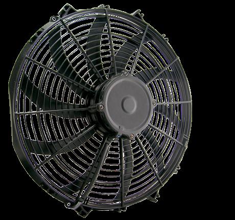 """16"""" 160 Watt Low Profile Curved Blade Reversible Fan Assembly"""