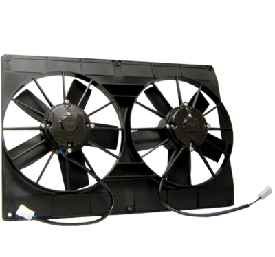 """Mach Two Dual 11"""" 225w No Flange Puller Fan Assembly"""
