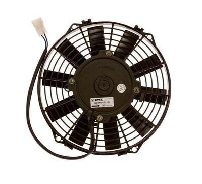 """9"""" 140 Watt 12 Volt SPAL Straight Blade Puller Fan Assembly"""