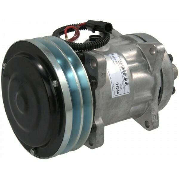 SD7H15SHD 152mm 2 Groove 12 Volt Ear Mount HOR Compressor