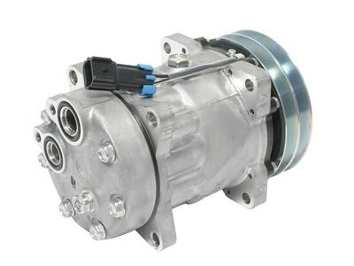 SD7H15 132mm 2 Groove 12 Volt Ear Mount VOR Compressor