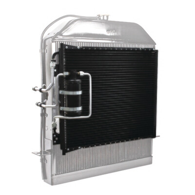 1939-1940 Ford Deluxe SuperFlow Condenser and Hardline Package With Drier