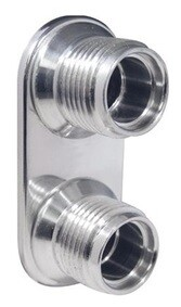 2-Way For A/C & Heater O-Ring Lines - Polished