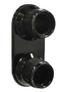 2-Way For AC & Heater O-Ring Lines - Black Anodized