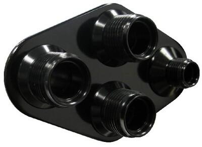 4-Way Diamond A/C Heater (6-10 Male O-Ring)