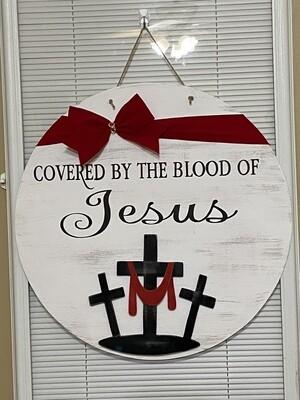 Covered by the Blood of Jesus Door Hanger