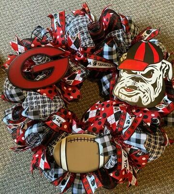 Bulldog Wreath 3 pieces