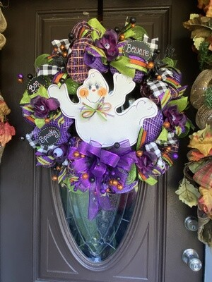 Ghost Wreath-Boo, Beware and spooky