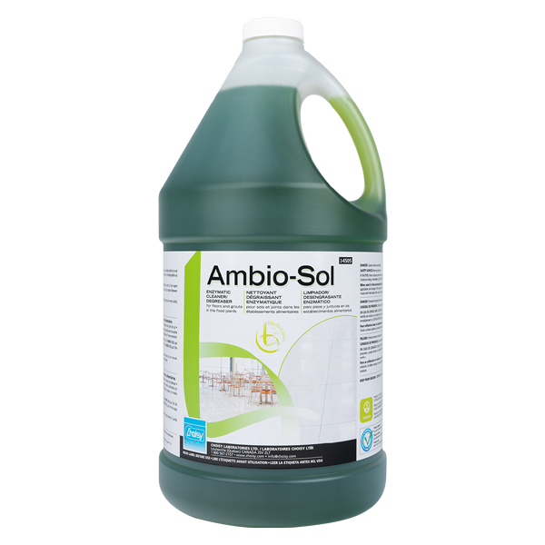 AMBIO-SOL | NETTOYANT DÉGRAISSANT ENZYMATIQUE POUR SOLS ET JOINTS | 3.8L