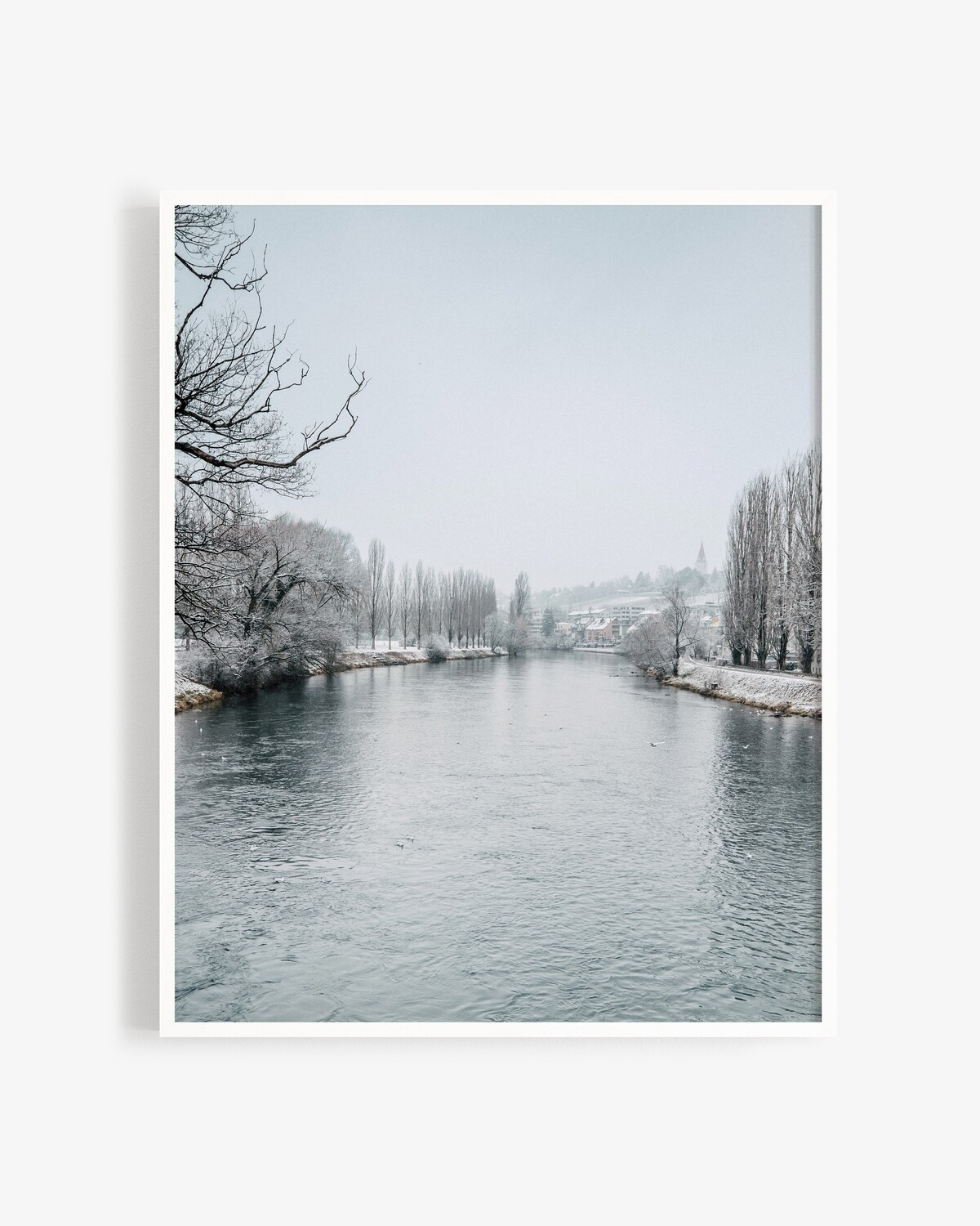 Snow on the Limmat