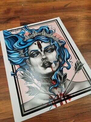 Print of Azure Despair