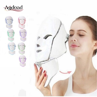 7 Colors Led Mask Skin Rejuvenation Photon Light Therapy Tighten Machine