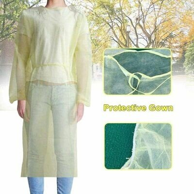 Disposable Isolation Gown Breathable Dust Proof Protection Clothes for Tattoo Permanent Makeup Beauty Salons Isolation Clothes