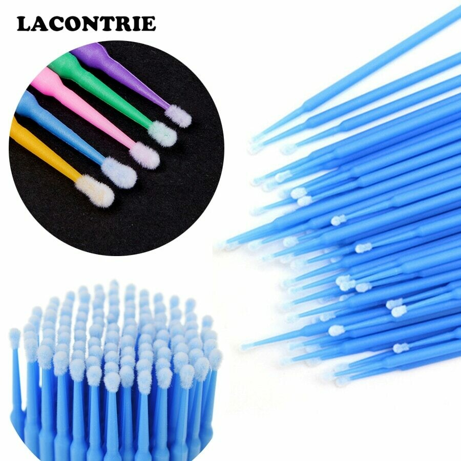 100pcs Makeup Brushes Disposable Micro Applicators