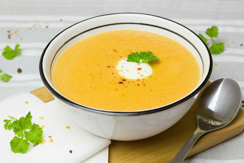 Paprika-Curry-Kokos-Suppe