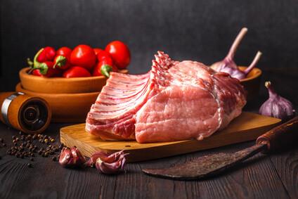 Duroc Schweine  T-Bone Steak Dry Aged