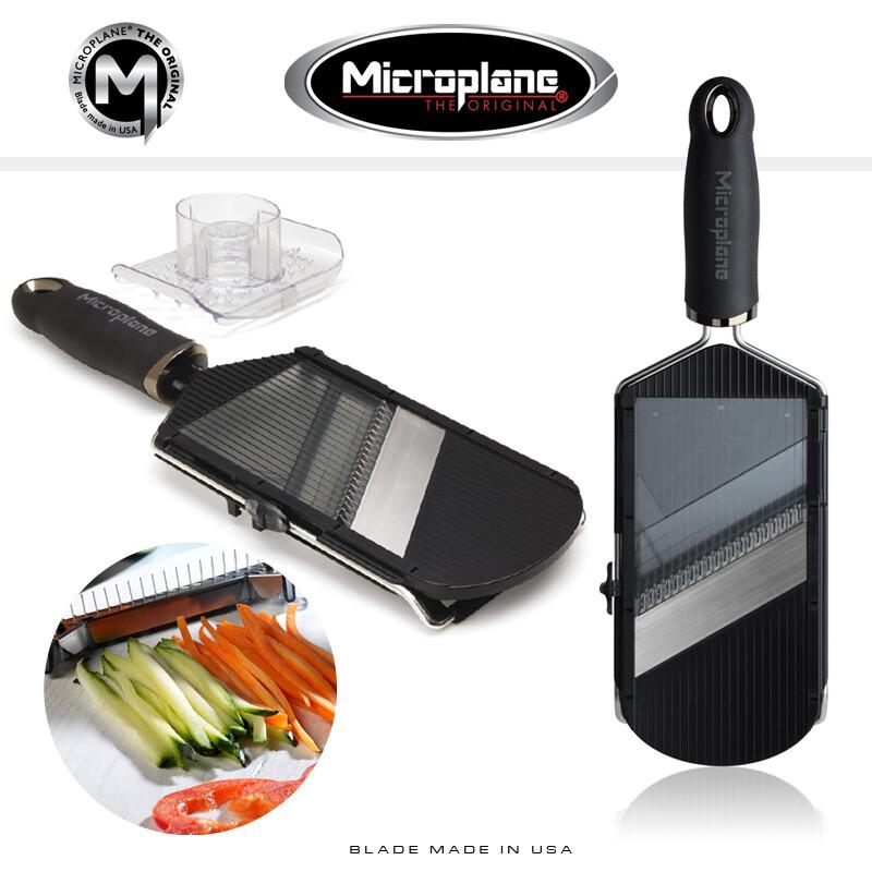 Verstellbarer Gemüsehobel mit Julienneklingeneinsatz Microplane